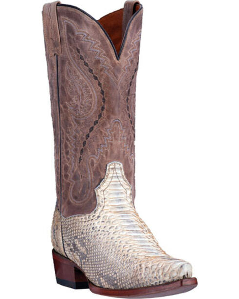 Dan Post Men's Python Orlando Western Boots, Natural, hi-res
