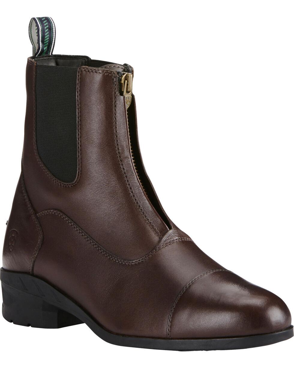 Ariat Men's Brown Heritage IV Zip Paddock Boots - Round Toe, Brown, hi-res