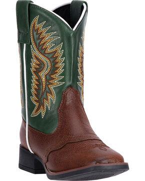 Laredo Boy's Vinny Western Boots, Dark Brown, hi-res