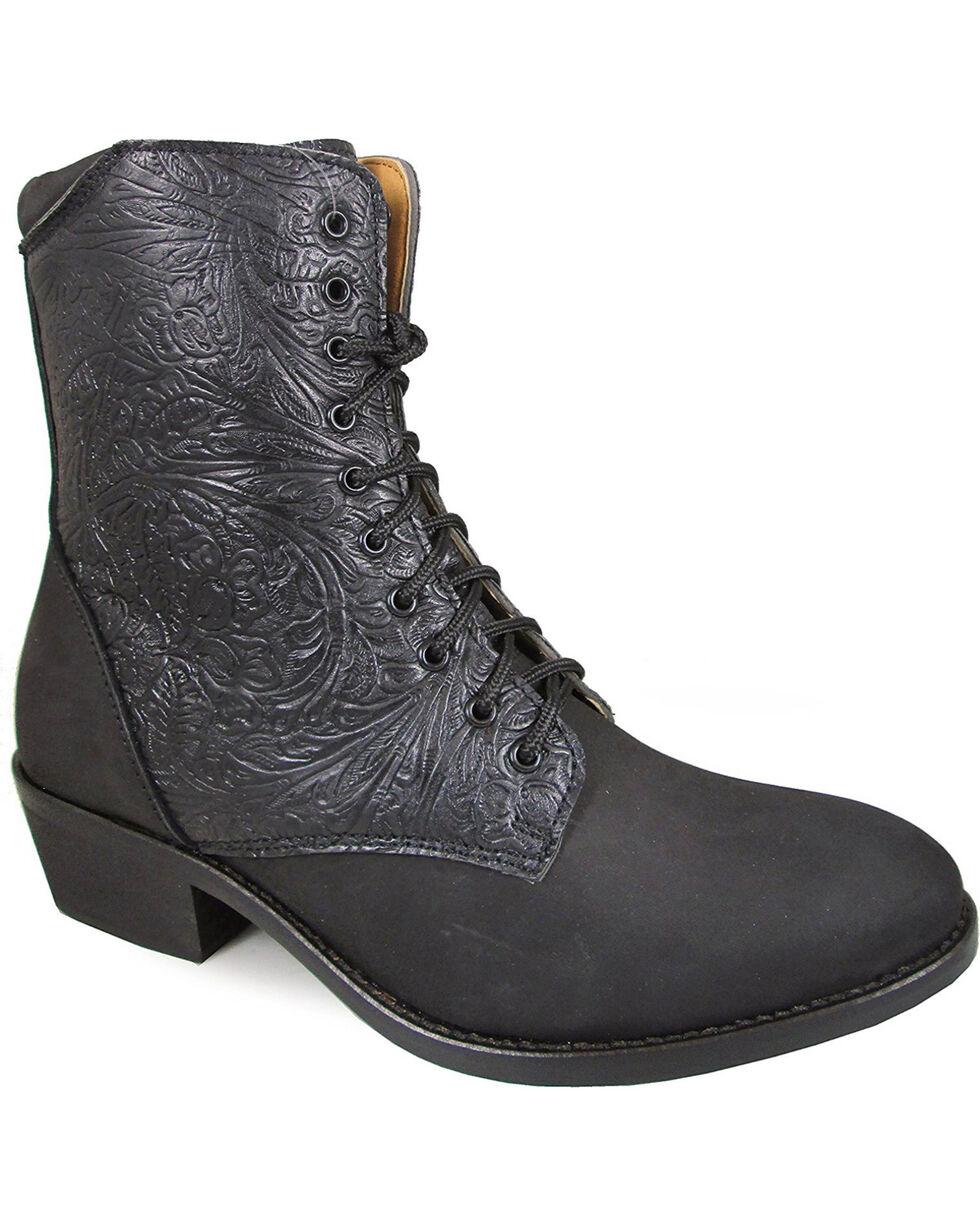 "Smoky Mountain Women's Black 6"" Lacer Boots - Round Toe , Black, hi-res"