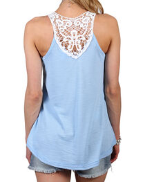 Shyanne Women's Ribbed and Lace Accent Tank, , hi-res