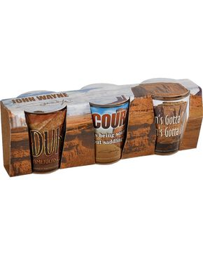 John Wayne Collectible Shot Glass Set, Multi, hi-res