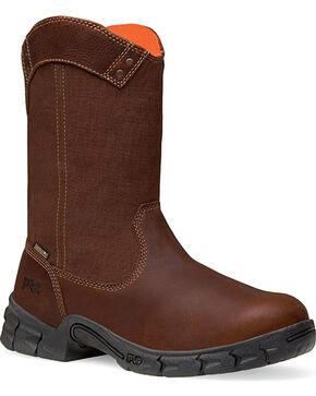 Timberland Pro Men's Excave Waterproof Wellington Boot, Brown, hi-res