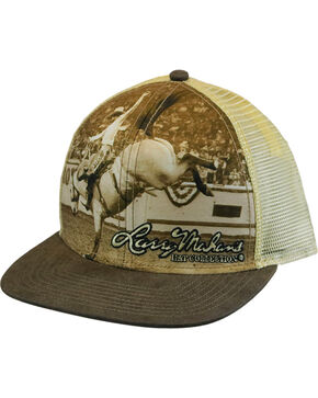 Larry Mahan Men's LM Retro Cap, Brown, hi-res