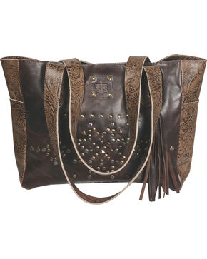STS Ranchwear Tribal Tote , Dark Brown, hi-res