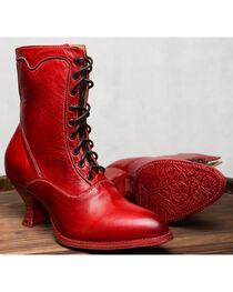 Oak Tree Farms Eleanor Red Boots - Medium Toe, , hi-res