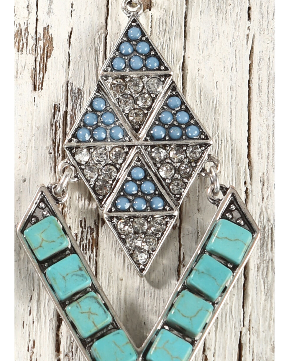 Shyanne Women's Diamond Shaped Turquoise Earrings, Turquoise, hi-res