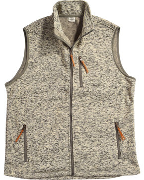 Cody James Men's Whipcrack Sweater Vest - Big, Oatmeal, hi-res