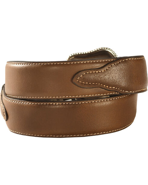 Nocona Solid Brown Western Belt, Assorted, hi-res