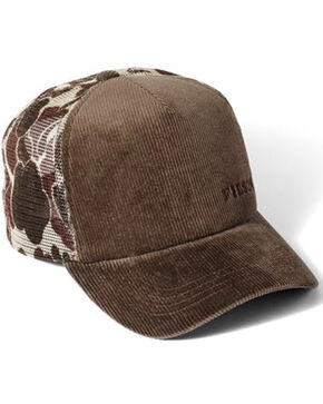Filson Men's Brown Alcan Cord Mesh Hat , Brown, hi-res