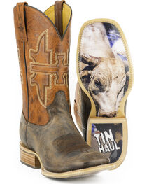 Tin Haul Men's Go Balls Out Western Boots, , hi-res