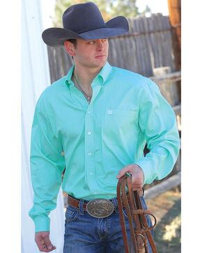 Cinch Men's Green Button Long Sleeve Shirt - XXXL, Green, hi-res