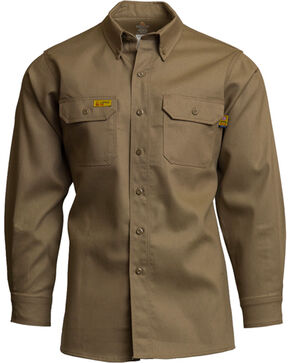 Lapco Men's Khaki FR Uniform Shirt , Beige/khaki, hi-res