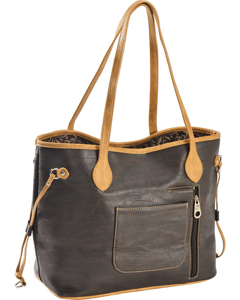 Montana West Women's Concealed Carry Horseshoe Tote , Brown, hi-res