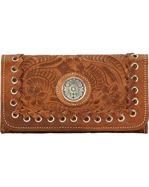 American West Women's Harvest Moon Wallet, Saddle Tan, hi-res