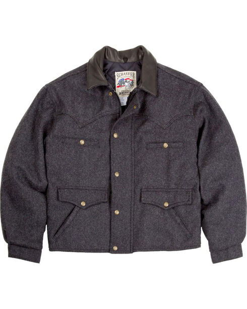 Schaefer Outfitter Men's Dark Charcoal Melton Wool Summit Jacket - Big 2X , Charcoal, hi-res