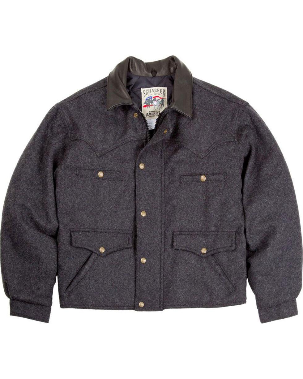 Schaefer Outfitter Men's Dark Charcoal Melton Wool Summit Jacket - Big 2X , Charcoal, hi-res