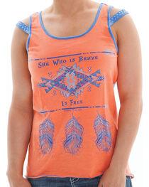 Cowgirl Tuff Women's Sheer Back Tank, , hi-res