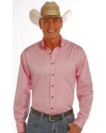 Panhandle Slim Men's Pink Solid Twill Shirt, , hi-res