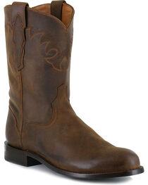 El Dorado Men's Distressed Roper Western Boots, , hi-res