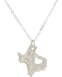 Montana Silversmiths I Heart Texas Necklace, , hi-res