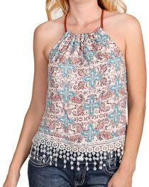 Shyanne® Women's Floral Paisley Print Tank, , hi-res
