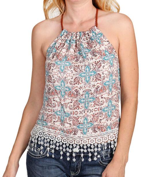 Shyanne® Women's Floral Paisley Print Tank, Multi, hi-res