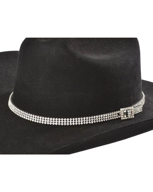 Cody James® Rhinestone Encrusted Hat Band, Clear, hi-res