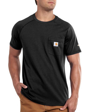 Carhartt Force Cotton Short Sleeve Shirt, Black, hi-res