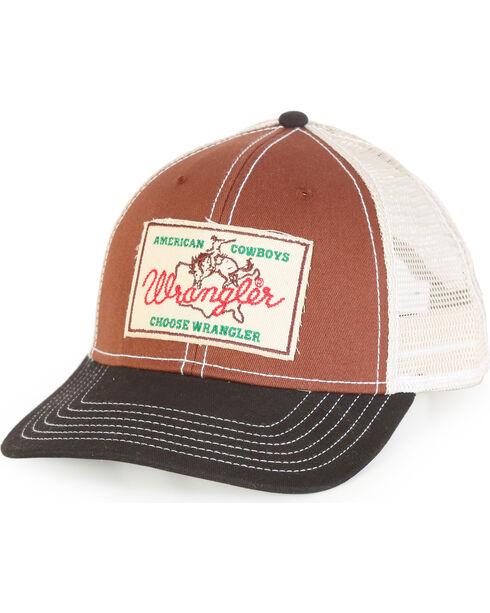 Wrangler Boys' Brown Wrangler Patch Baseball Cap , Brown, hi-res