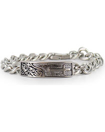 Cody James® Men's Silver Cross Bracelet , , hi-res