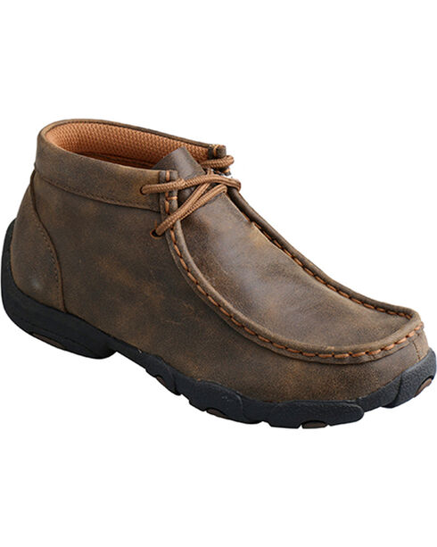 Twisted X Boys' Driving Moc, Brown, hi-res