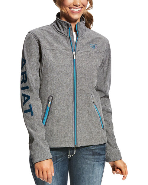 Ariat Women's Softshell Team Jacket , Charcoal, hi-res