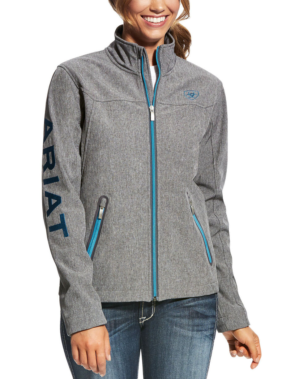 Ariat Women's Softshell Team Jacket , Charcoal, hi-res