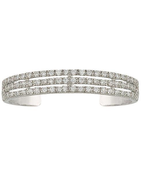 Montana Silversmiths Triple the Delight Cuff Bracelet, Silver, hi-res