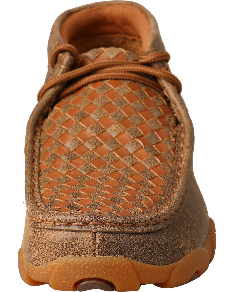 Twisted X Women's Woven Driving Mocs, Brown, hi-res