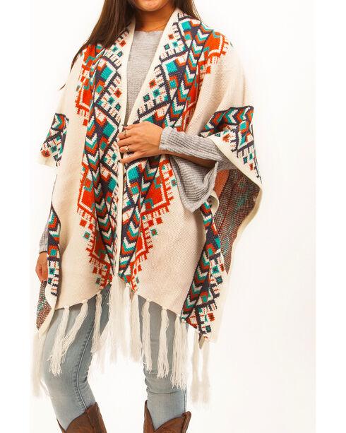 Shyanne Women's Diamond Chevron Patterned Blanket Scarf, Multi, hi-res