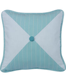HiEnd Accents Catalina Striped and Chevron Print Reversible Pillow , , hi-res