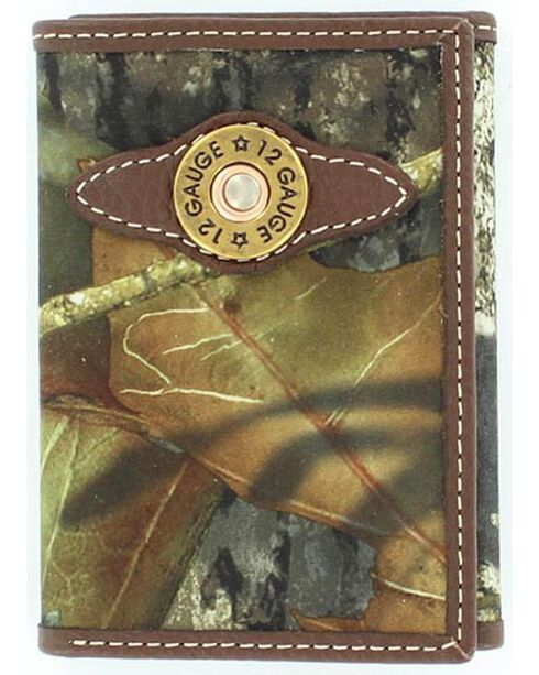 Nocona Men's Mossy Oak 12 Gauge Tri-Fold Wallet, Mossy Oak, hi-res