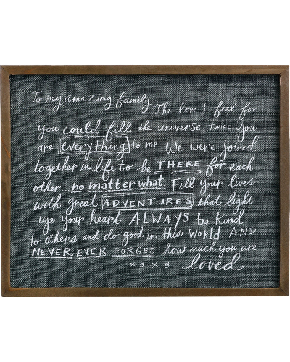Demdaco Family Love Letter Wall Art, Black, hi-res