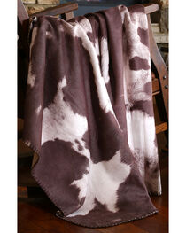 Carstens Chocolate Cow Hide Throw Blanket, , hi-res