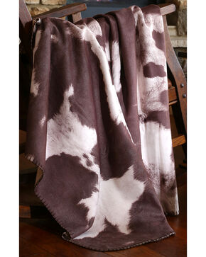 Carstens Chocolate Cow Hide Throw Blanket, Brown, hi-res