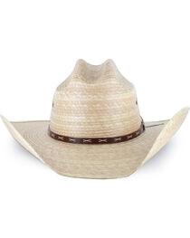 Justin Men's Straw Hat, Natural, hi-res