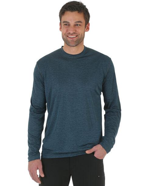 Wrangler Rugged Wear All-Terrain Long Sleeve Performance Tee - Big & Tall , Steel Blue, hi-res