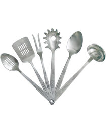Moss Brothers 6-Piece Running Horse Stainless Steel Serving Set  , , hi-res