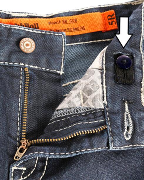 "Rock & Roll Cowboy Boys' (4-20) ReFlex ""V"" Embroidered Jeans - Boot Cut , Indigo, hi-res"