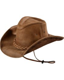 Bullhide Melbourne Leather Hat, , hi-res