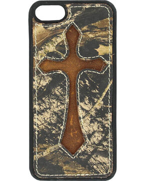 Nocona Mossy Oak Cross Leather iPhone 5 Phone Case, Mossy Oak, hi-res