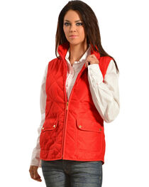 Jane Ashley Women's Diamond Quilted Vest, , hi-res