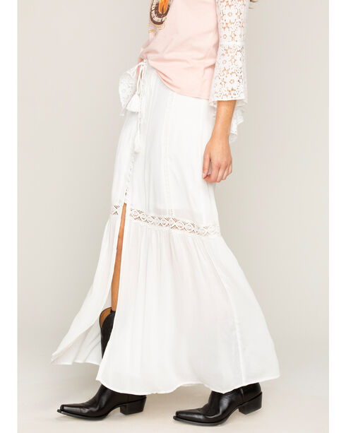 Shyanne® Women's Lace Button Down Skirt, Ivory, hi-res